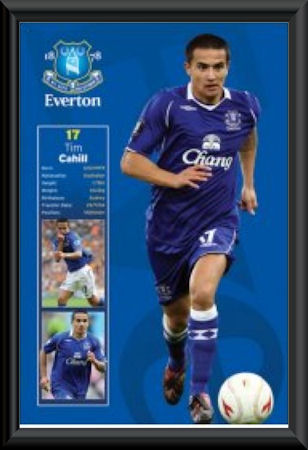 Tim Cahill Everton Framed Poster