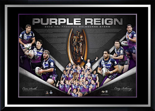 2009 NRL Premiers Melbourne Storm Signed Lithograph