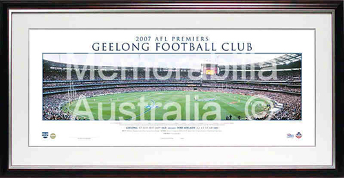 2007 Geelong Cats Premiership Panoramic Print