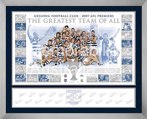 2007 Geelong Cats Premiership Lithograph