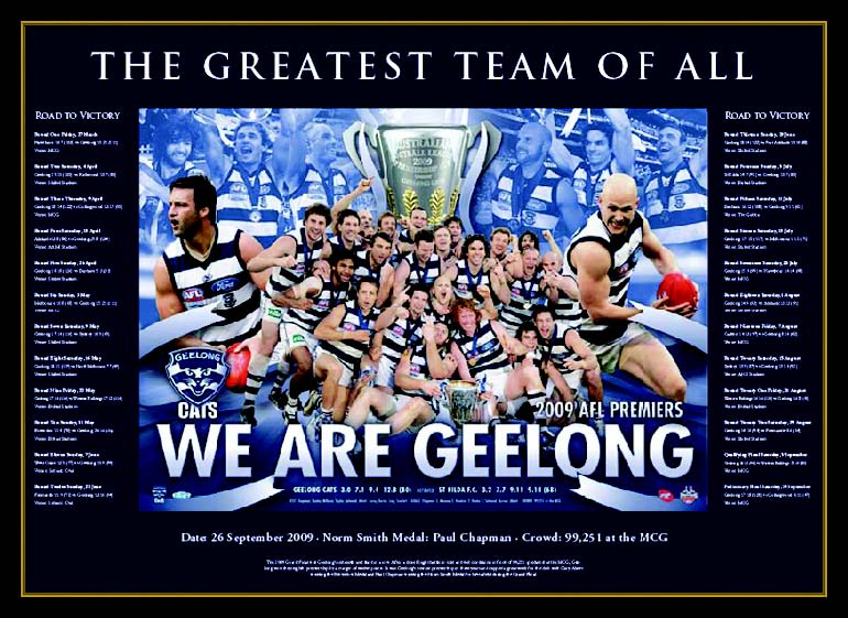 AFL Geelong Cats 2009 Premiers LE Print