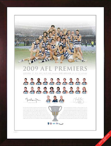 2009 Geelong Cats Premiership Signed Lithograph