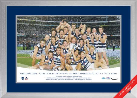 2009 Geelong Cats Premiership Photo Framed
