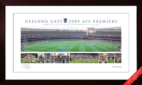 2009 Geelong Cats AFL Premiership  Signed Panoramic