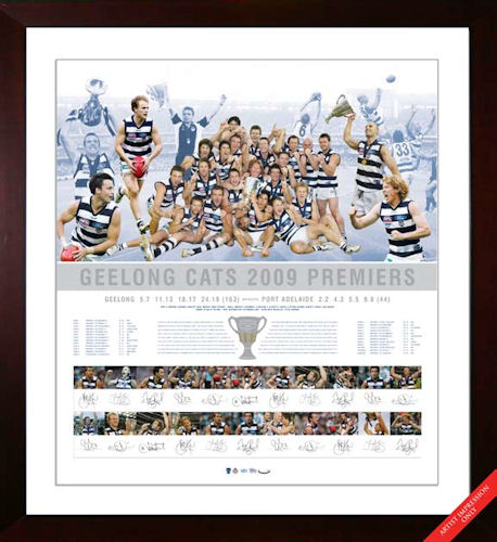 2009 Geelong Cats Premiership Team Signed Lithograph