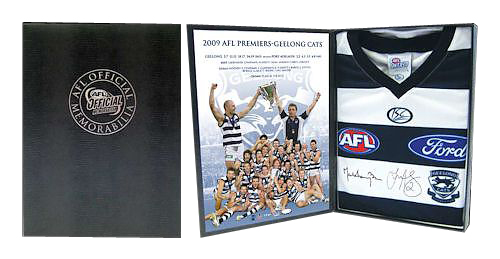 2009 Geelong Cats Premiership Boxed Signed Jumper