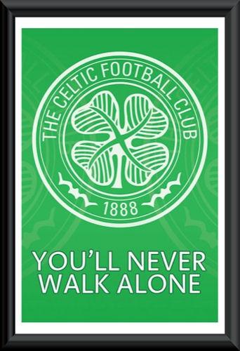Celtic Football Club Crest Poster Framed Scottish
