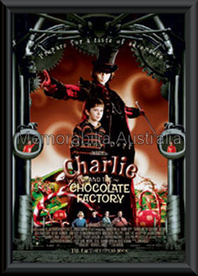 Charlie And Chocolate Factory Poster Framed
