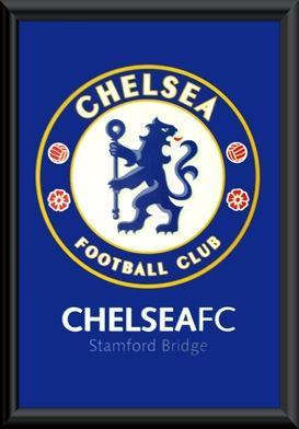Chelsea FC Crest Poster Framed
