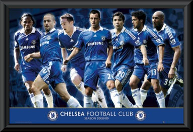 Chelsea FC 2008/09 Players Poster Framed
