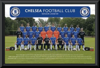 Chelsea FC 2008/09 Team Poster Framed