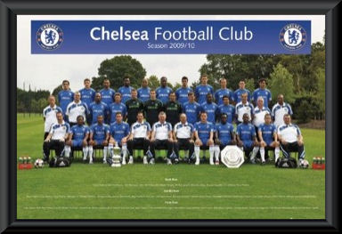 Chelsea FC 2009/10 Team Poster Framed
