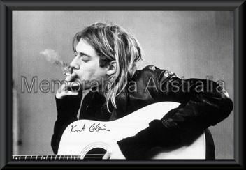 Kurt Cobain Poster Framed