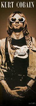 Kurt Cobain Door Poster