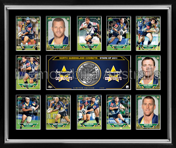 Cowboys 2011 Medallion Print Framed