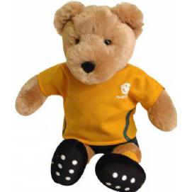 Socceroos 38cm Football Australia Bear