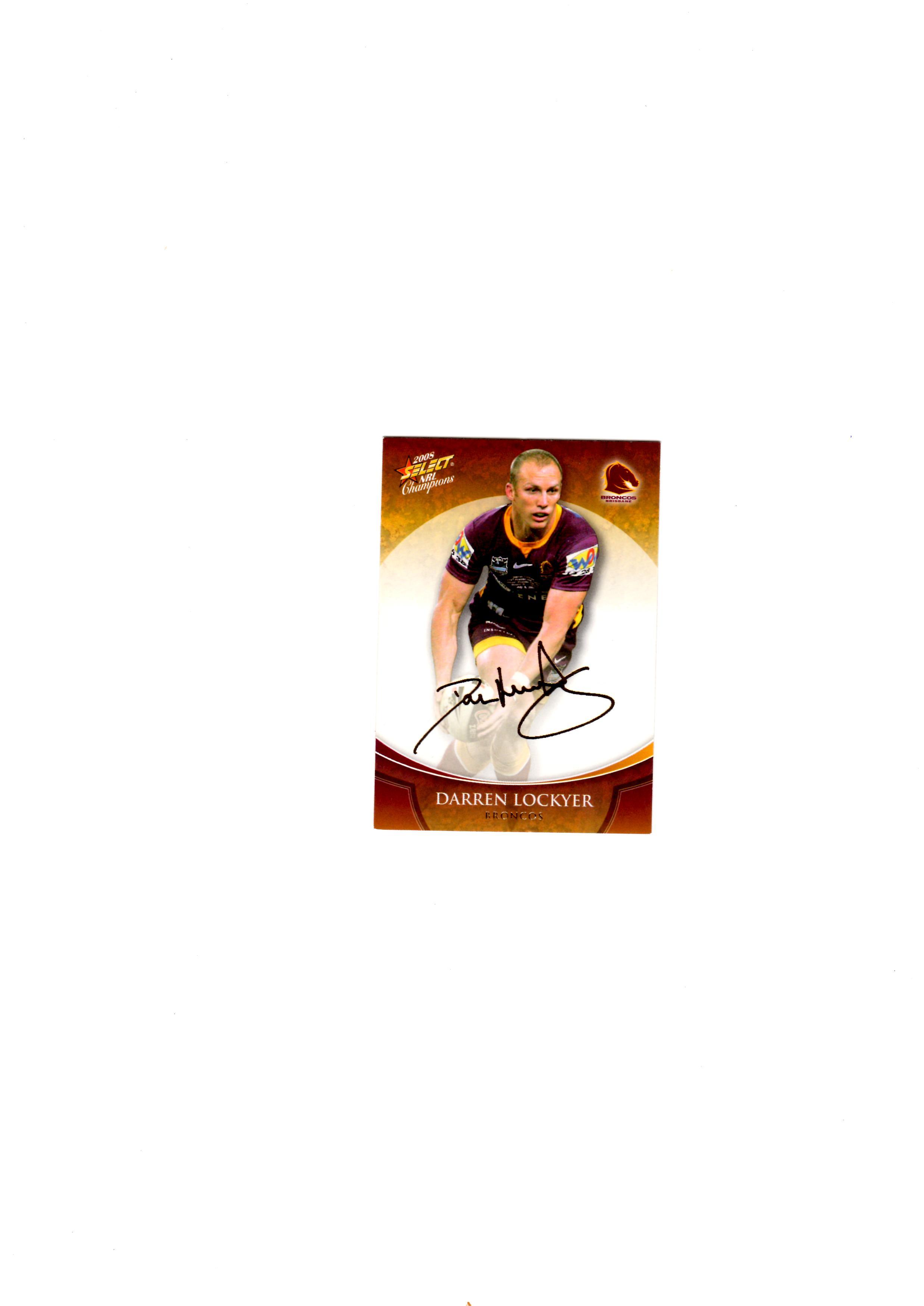 Darren Lockyer Gold Foil Sig Card