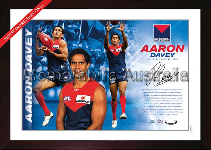Aaron Davey Signed AFL Starshot