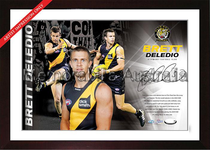 Brett Deledio Signed AFL Starshot