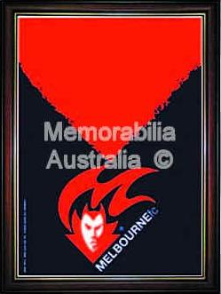 Melbourne Demons Framed Logo Poster