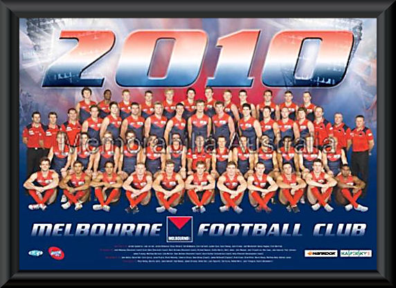 Melbourne Demons 2010 AFL Team Frame