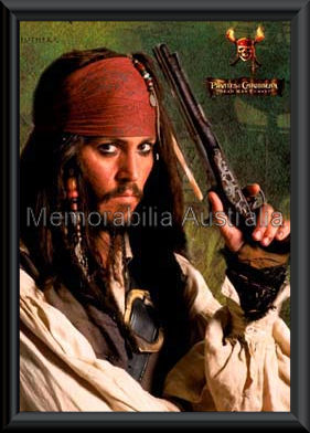 Depp Pirates Poster Framed