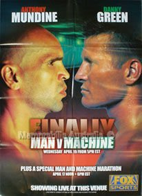 Official Danny Green vs Anthony Mundine Fight Poster