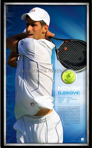 Djokovic Signed Ball Framed LE