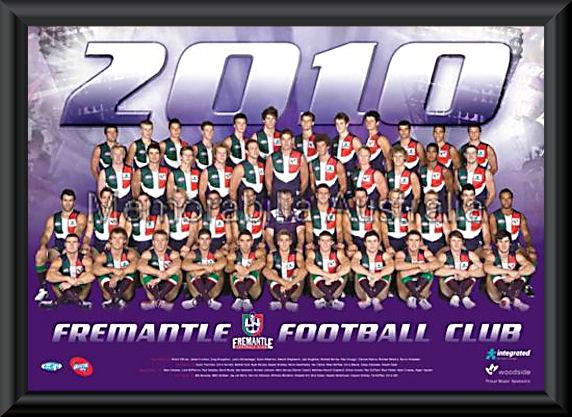 Fremantle Dockers 2010 AFL Team Frame