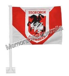 St George Illawarra Dragons NRL Car Flag