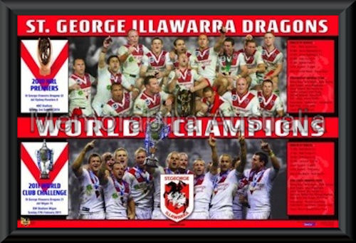 Dragons 2010 Club Challenge Print Framed
