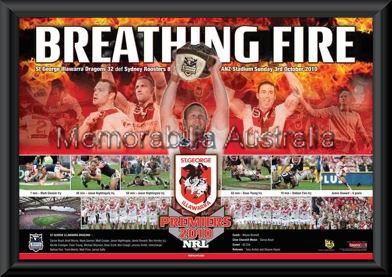 Breathing Fire 2010 Premiers Framed
