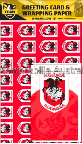 St George Illawarra Dragons NRL  Card and Wrap Pack
