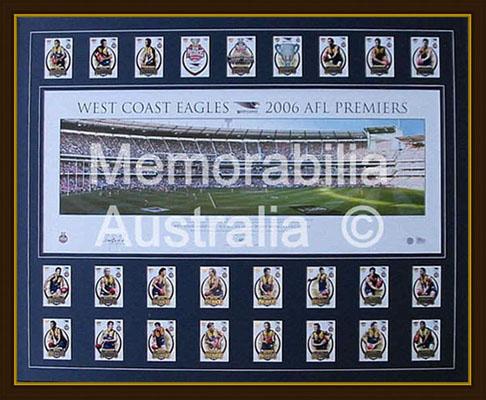 2006 AFL Grand Final Panoramic Print + Card Set