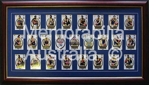 2006 Premiership Framed Card Set