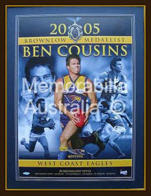 Ben Cousins 2005 Brownlow Medallist Print