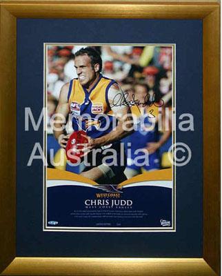 Chris Judd Signed Framed Print - Star Shot