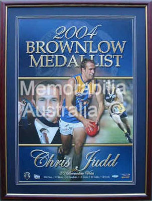 Chris Judd 2004 Brownlow Medallist Print