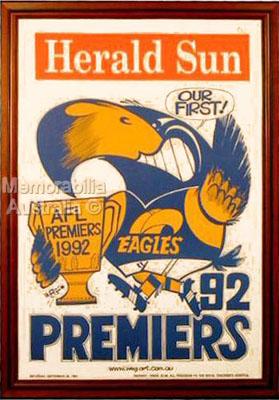 1992 West Coast Eagles Weg Poster
