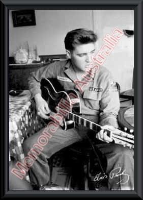 Elvis Presley Guitar Print