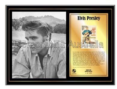 Elvis Love Me Tender LE Plaque