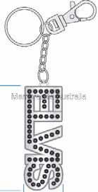 Elvis Logo Diamante Key Ring