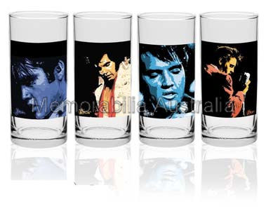 Elvis Live Hi Ball Glass set