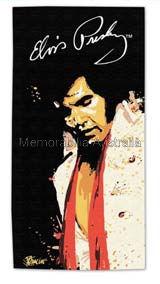 Elvis Red Scarf Jumbo Towel