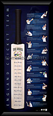 ASHES 2010/11 England First XI Signed Bat