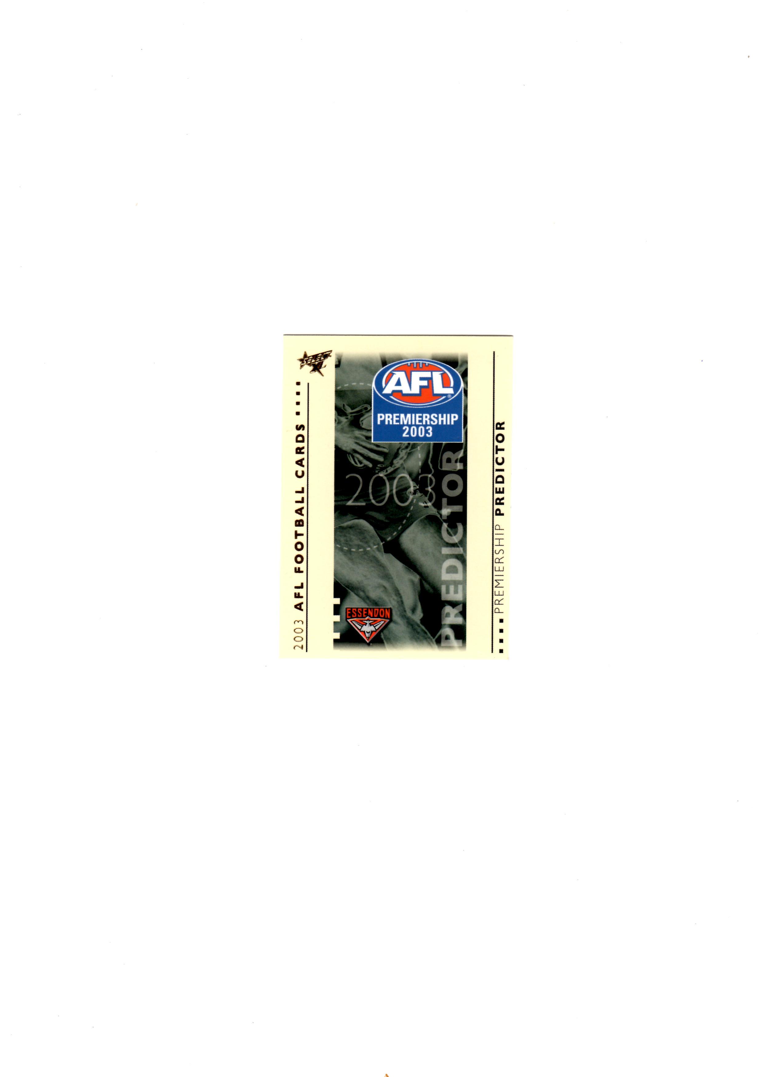 Essendon Predictor Card