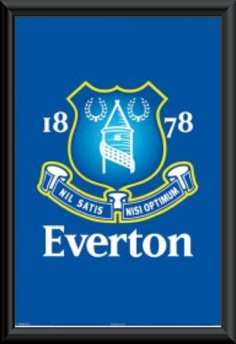 Everton FC Crest Poster Framed