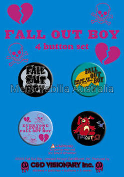 Fall Out Boy Button Badge Pack