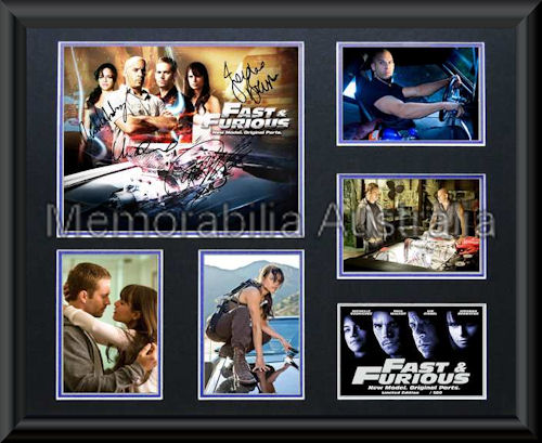 Fast And The Furious LE Montage Framed