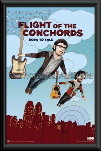 Flight Of The Conchords Poster Framed